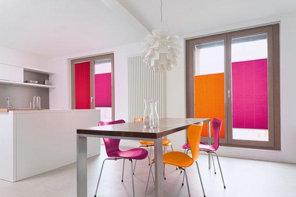 plissee-orange-rosa